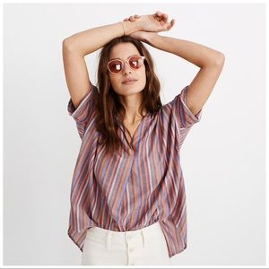 Madewell • Courier Button Back Shirt Sz L